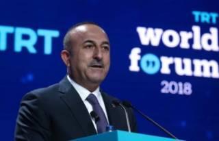 Bakan Çavuşoğlu'ndan Suriye mesajı