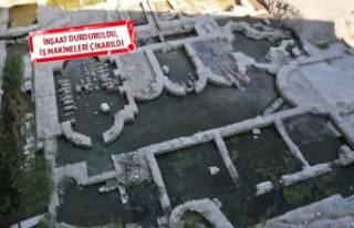 İzmir'de iş hanı zemininden 'tarih'...