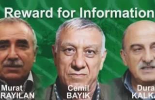 3 PKK'lı teröristin başına 12 milyon dolar...