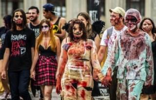 Brezilya'da zombie yürüyüşü yapıldı!