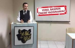 Türk Ocakları'nda konuşan Cilasun, yerel basının...