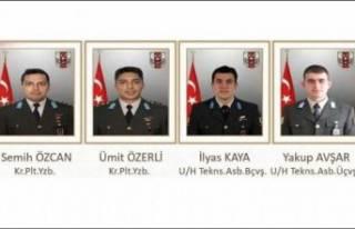Helikopter kazasında ölen şehitlerin isimleri belli...
