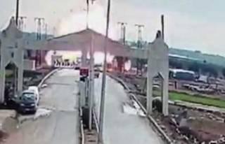 Kilis sınırında şiddetli patlama!