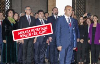 Başkan Tunç Soyer ve belediye başkanları Anıtkabir'i...