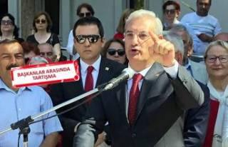 Karşıyaka'da gergin tören