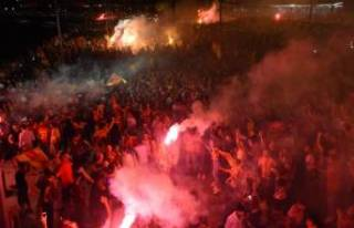 Göztepe'den coşkulu kutlama