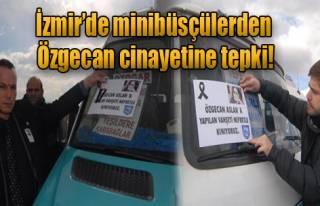 İzmir'de Minibüsçülerden Özgecan Cinayetine Tepki