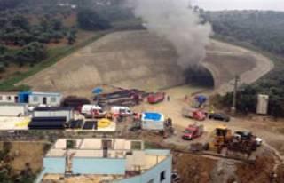 YHT Tünel İnşaatında Yangın