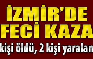 İzmir'de İki Otomobil Çarpıştı: 1 Ölü, 2 Yaralı
