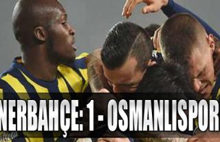 Fenerbahçe: 1 - Osmanlıspor: 0
