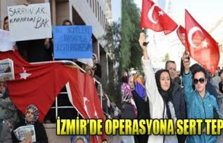İzmir'de 14 Aralık Operasyonuna Tepki
