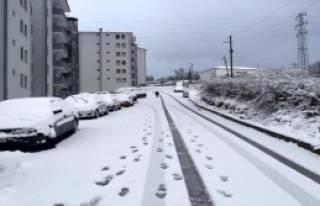 Bartın'da Etkili Kar Yağışı