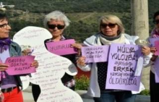Bodrum'da Kadın Cinayetleri Protesto Edildi