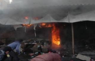Camiye Giderken Kapattığı İşyeri Yandı