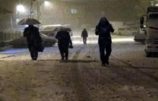 Çelikhan'da Okullara Kar Tatili