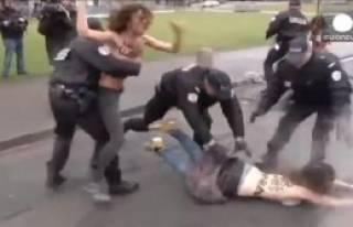 IMF Eski Başkanına Femen Baskını