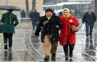 Kayseri'ye Kar Yağdı