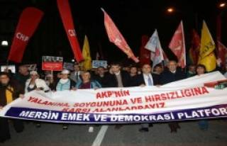 Mersin'de 17 Aralık Protestosu