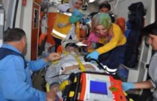 Otomobilin Çarptığı Engelli Ağır Yaralandı