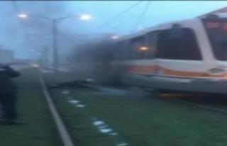 Seyir Halindeki Tramvayda Yangın