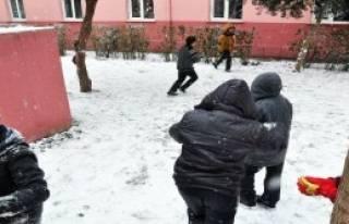 Soma'da Taşımalı Eğitime Kar Engeli