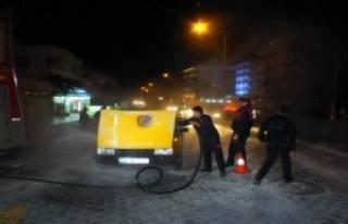 Taksi Seyir Halindeyken Yandı