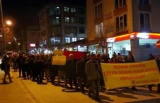 Tunceli'de Suriye Kürtlerine Destek Yürüyüşü