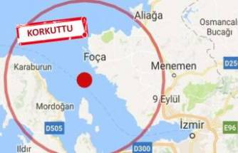 İzmir Karaburun açıklarında deprem