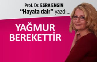 Prof. Dr. Esra Engin yazdı: Yağmur berekettir