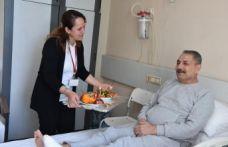 Ayağı kurtuldu, doğum gününü hastanede kutladı