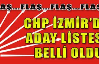 CHP İzmir'de Aday Listesi Belli Oldu