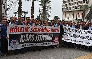 İzmir'de taşeron firma işçilerinden kadro...