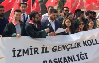 AK Parti Gençlik Kolları'ndan İsrail'e...