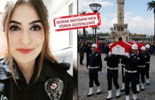 İzmir'de şehit polise acı veda