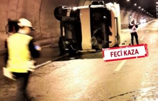 İzmir'deki o tünelde TIR devrildi