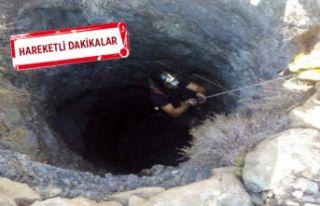 İzmir'de polisten kaçarken kuyuya düştü!