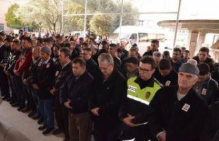 Kalp krizinden ölen polis memuru törenle uğurlandı