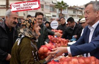 Menemen Belediyesi'nden vatandaşa 10 ton soğan!