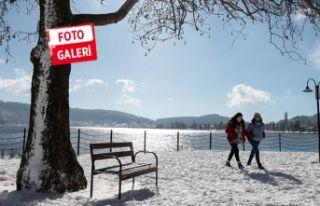 İzmir'den eşsiz kar manzaraları