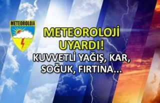 Meteoroloji'den uyarı! Kuvvetli yağış, soğuk,...
