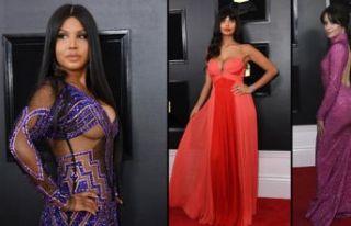 Grammy kırmızı halısından böyle geçtiler