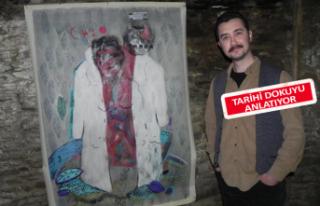Lübbey köyünde resim sergisi açtı