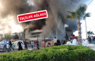 Denizli'de korkutan yangın: Fabrika alev alev