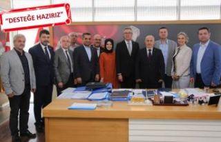 AK Parti'den CHP'li başkana kutlama ziyareti
