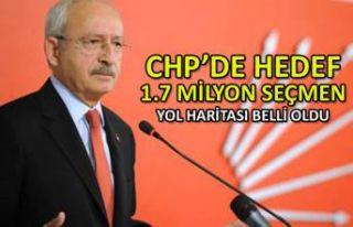 CHP'de hedef 1.7 milyon seçmen