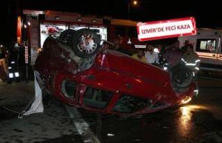 Zincirleme kazada araçtan fırlayıp, viyadükten...