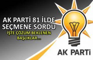 AK Parti81 ilde seçmene sordu