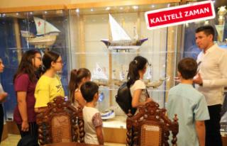 Bayraklılı çocuklar denizlerin tarihiyle buluştu
