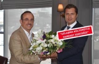 CHP İl Başkanı'ndan AK Parti'ye ziyaret
