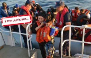 Dikili ve Foça'da 153 kaçak göçmen yakalandı